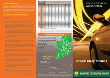 NCT Customer Charter - Road Safety Authority