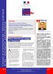 Lettre du Coepia n° 5 - Juillet 2012