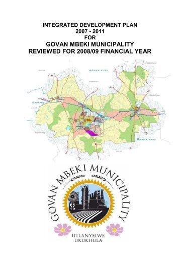 Govan Mbeki Municipality IDP 2007 - Co-operative Governance and ...
