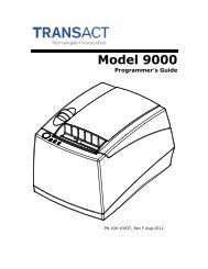 Ithaca 9000 Programmer's Guide - TransAct