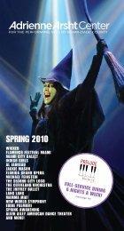 2010 Spring Brochure - Adrienne Arsht Center