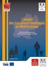 L'emploi des travailleurs handicapés en Midi-Pyrénées 2011
