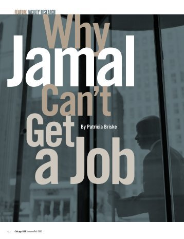 Why Jamal Can't Get a Job - The University of Chicago Booth ...