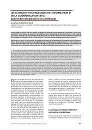 Les sciences et technologies de l'information et de la ... - ABD-BVD
