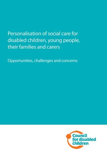 Personalisation of social care for disabled children, young people ...