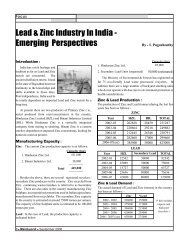 Lead & Zinc Industry In India