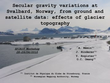 Secular gravity variations at Svalbard, Norway, from ground and