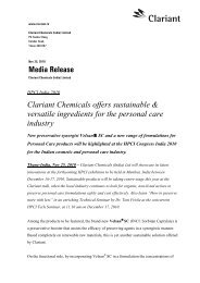 Media Release No 14 - 25 Nov 2010 - Clariant
