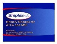 Memory Modules for ATCA and AMC - Discobolus Designs, Home ...