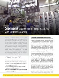 Siemens verifies turbine blade geometry with 3D ... - Nikon Metrology