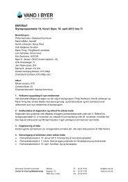 Referat af 10. styregruppemøde den 10.04.13 - Vand i Byer