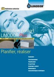 Ventilation confort LIMODOR-Plus Planifier, réaliser - Trivent AG