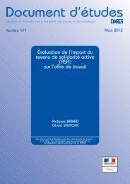 Évaluation de l'impact du revenu de solidarité active (RSA)