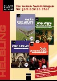 Die neuen Sammlungen für gemischten Chor - Helbling Verlag