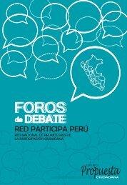 Foro de Debates Red Participa Perú - Grupo Propuesta Ciudadana