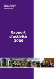 Rapport d'activité 2009 - Réseau Espace Santé Cancer Rhône-Alpes