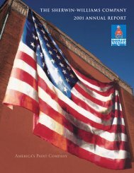 2001 Annual Report - Investor Relations - Sherwin Williams