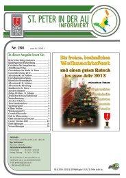 Infoblatt Nr. 286 vom 19.12.2011 - in St. Peter in der Au