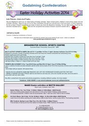 Easter Holiday Activities 2014