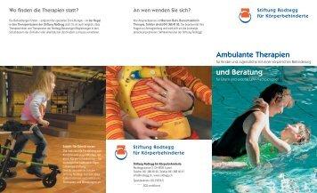 Broschüre (PDF) - die rodtegg Stiftung für Menschen mit körperlicher ...