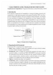 CARACTERÍSTICAS DEL TRABAJO DE DOCUMENTACIÓN 1 ...