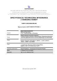 Specyfikacje techniczne wykonania i odbioru robót budowlanych