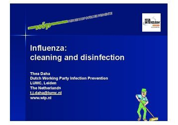 Influenza: Cleaning & Disinfection - ISSA.com