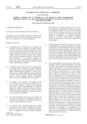 Règlement (UE) no 209/2013 de la Commission du 11 ... - EUR-Lex