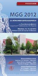 MGG 2012 MGG 2012 - Klinik für Gefäßchirurgie - TUM