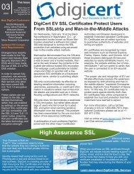 High Assurance SSL - Digicert
