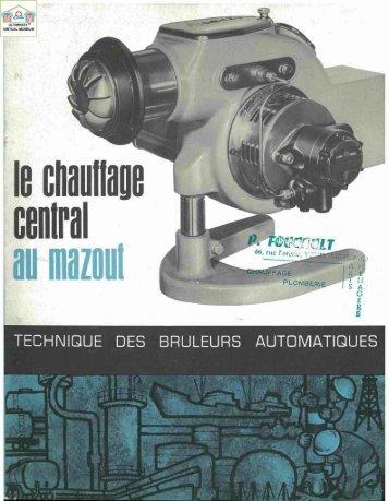 FRANCIA 1960 : technique des bruleurs automatiques - Ultimheat