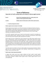 Terms of Reference - Pacific Islands Forum Secretariat