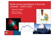 Radio-source populations in the local universe – what's next?