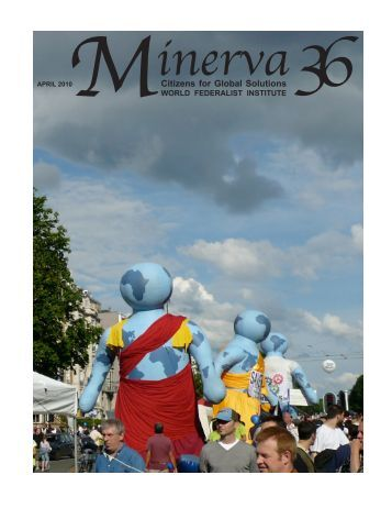 Minerva, Spring 2010 (Volume 36) - Citizens for Global Solutions
