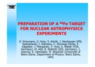 Preparation of a 60Fe target for nuclear astrophysics ... - INTDS 2008