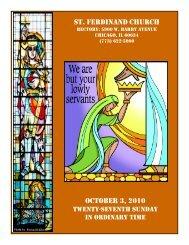st. ferdinand church october 3, 2010 - Parafia św. Ferdynanda w ...