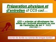 Préparation physique et d'entretien - Faculté des sciences du sport ...