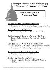 LEGISLATIVE PRIORITIES 2008 - Washington Association of Area ...