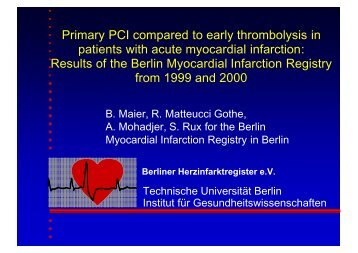 Primary PCI compared to early thrombolysis in patients with acute ...