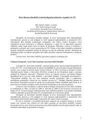Dezvoltarea durabilă şi marketingul produselor organice în UE