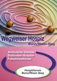 Wegweiser Hospiz - Hospiztelefon Bonn