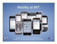 Mobility at MIT - Common Solutions Group