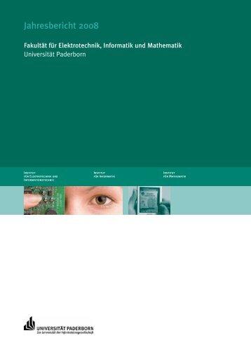 Jahresbericht 2008 - Optische Nachrichtentechnik und ...