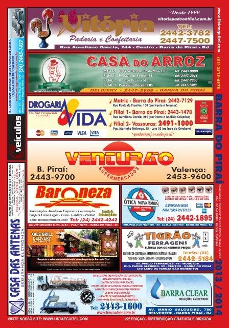 BARRA DO PIRAÍ - Lista Telefônica Eguitel
