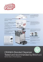 ORANKA Branded Dispenser. Tested and recommended by BVLK e.V.