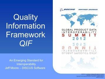 Quality Information Framework (QIF) – An Emerging ... - GPDIS