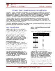 Milwaukee County General Assistance Medical Program