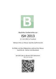 Baulniks-Vorberichte zur BAU aus allen Hallen - Baulinks
