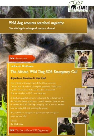 Wild Dog SOS - SAVE Wildlife Conservation Fund