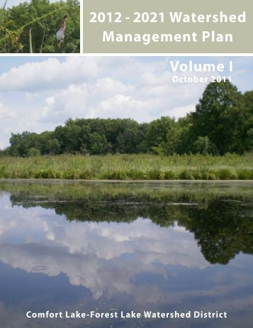 2012 - 2021 Watershed Management Plan Volume I - Comfort Lake ...